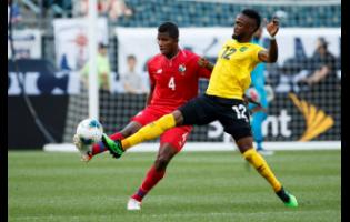 Junior Flemmings (right) in action for Jamaica during a Concacaf Gold Cup match against Panama on Sunday, June 30, 2019.