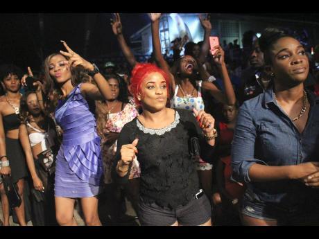 Patrons enjoying themselves at Ghetto Splash last December.