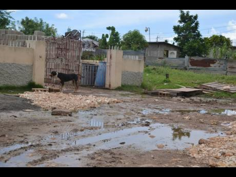 Residents have to contend with muddy streets again after heavy rains brought high water rushing through their dwellings over the last few days.