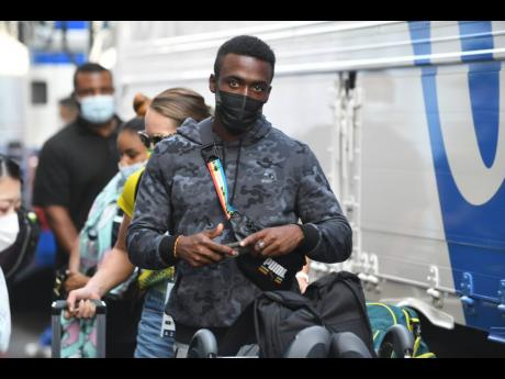 National 100 metres champion Tyquendo Tracey arrives at the Olympic Village in Tokyo, Japan on Friday, July 23 (Thursday night Jamaica time).